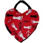 RED SWATCH#2 Giant Heart Shaped Tote