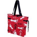 RED SWATCH#2 Drawstring Tote Bag