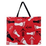 RED SWATCH#2 Zipper Large Tote Bag