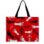 RED SWATCH#2 Zipper Mini Tote Bag