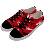 RED SWATCH#2 Men s Low Top Canvas Sneakers