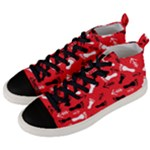 RED Men s Mid-Top Canvas Sneakers