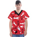 RED SWATCH#2 Men s V-Neck Scrub Top