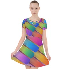 Colorful Textured Shapes Pattern                                   Caught In A Web Dress