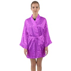 Series In Pink E Long Sleeve Kimono Robe by MoreColorsinLife