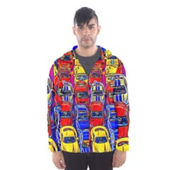 Colorful Toy Racing Cars Hooded Windbreaker (men) by FunnyCow