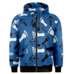 BLUE #2 Men s Zipper Hoodie