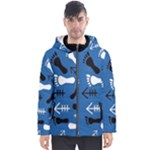 BLUE #2 Men s Hooded Puffer Jacket