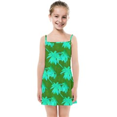 Palm Trees Island Jungle Kids Summer Sun Dress by CrypticFragmentsColors