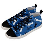 BLUE #2 Men s Mid-Top Canvas Sneakers