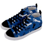 BLUE #2 Women s Mid-Top Canvas Sneakers