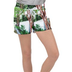 Hot Day In Dallas 40 Women s Velour Lounge Shorts by bestdesignintheworld