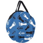 BLUE #2 Giant Round Zipper Tote