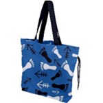 BLUE #2 Drawstring Tote Bag