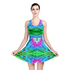 The Tropical Watercolor Peacock Feather Created By Flipstylez Designs  Reversible Skater Dress by flipstylezdes