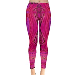 Pink And Purple And Peacock Created By Flipstylez Designs  Inside Out Leggings by flipstylezdes