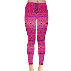 Pink And Purple And Peacock Created By Flipstylez Designs Leggings  by flipstylezdes