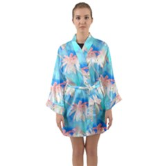 Palm Trees Summer Afternoon Long Sleeve Kimono Robe by CrypticFragmentsColors