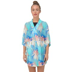Palm Trees Summer Afternoon Half Sleeve Chiffon Kimono by CrypticFragmentsColors