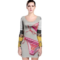 Urban T Shirts, Tropical Swim Suits, Running Shoes, Phone Cases Long Sleeve Velvet Bodycon Dress by gol1ath