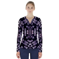 Ghost Gear   Native American Tribute   V Neck Long Sleeve Top by GhostGear