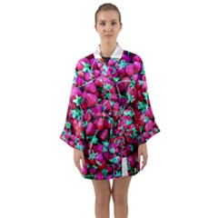 Pile Of Red Strawberries Long Sleeve Kimono Robe by FunnyCow