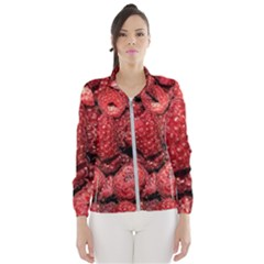 Red Raspberries Windbreaker (women) by FunnyCow