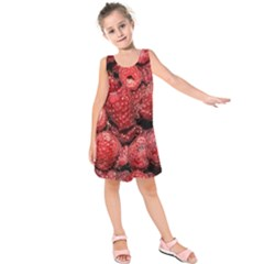 Red Raspberries Kids  Sleeveless Dress by FunnyCow