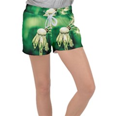Dandelion Flower Green Chief Women s Velour Lounge Shorts by FunnyCow