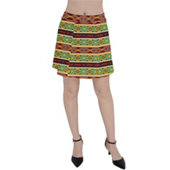 Ovals Rhombus And Squares                                          Panel Skirt