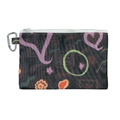 Hearts Canvas Cosmetic Bag (large) by snowwhitegirl