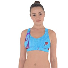 Hearts And Blue Cross String Back Sports Bra by snowwhitegirl