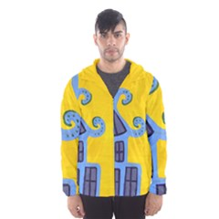 Blue House Hooded Windbreaker (men) by snowwhitegirl
