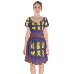 Boring Egg Short Sleeve Bardot Dress by snowwhitegirl