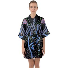 Saint Dress Quarter Sleeve Kimono Robe by snowwhitegirl