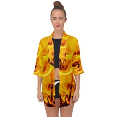 Fire And Flames Open Front Chiffon Kimono by FunnyCow