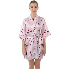 Love Is In The Air Quarter Sleeve Kimono Robe by FunnyCow