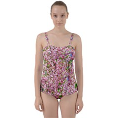 Almond Tree In Bloom Twist Front Tankini Set by FunnyCow
