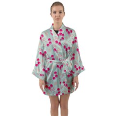 Bubblegum Cherry Long Sleeve Kimono Robe by snowwhitegirl