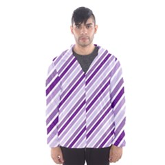 Violet Stripes Hooded Windbreaker (men) by snowwhitegirl