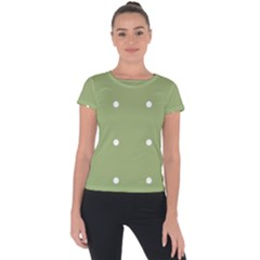 Olive Dots Short Sleeve Sports Top  by snowwhitegirl
