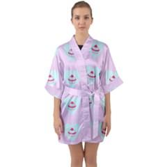 Pink Cupcake Quarter Sleeve Kimono Robe by snowwhitegirl