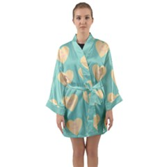 Teal Cupcakes Long Sleeve Kimono Robe by snowwhitegirl