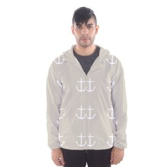 Lt Grey Anchors Hooded Windbreaker (men) by snowwhitegirl