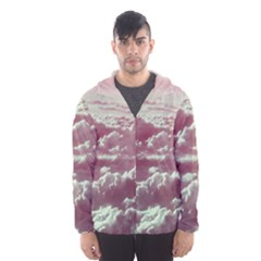 In The Clouds Pink Hooded Windbreaker (men) by snowwhitegirl