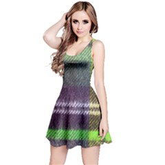 Neon Green Plaid Flannel Reversible Sleeveless Dress by snowwhitegirl