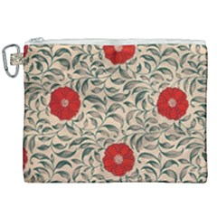 Papanese Floral Red Canvas Cosmetic Bag (xxl) by snowwhitegirl