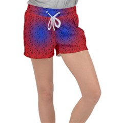 Red Music Blue Moon Women s Velour Lounge Shorts by snowwhitegirl