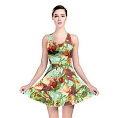 Fruit Blossom Reversible Skater Dress by snowwhitegirl