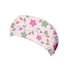 Pink Vintage Flowers Yoga Headband by snowwhitegirl
